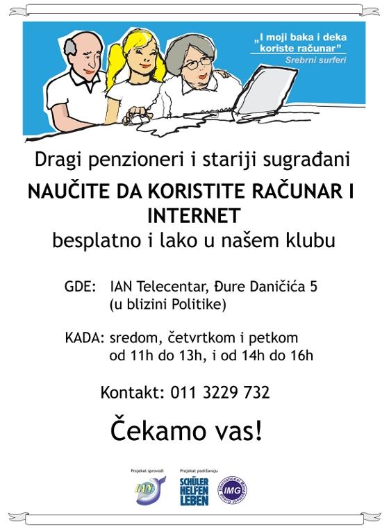 IAN Telecentar – Besplatna škola računara za stare u Beogradu