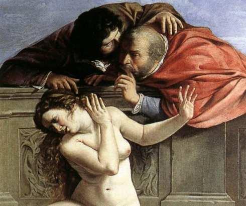 Suzana i starci, biblijska priča po viđenju žene