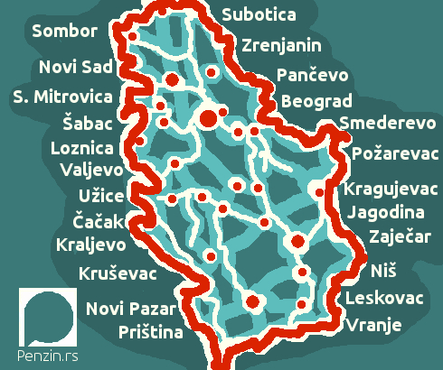 Srbija: Razlika između najniže i najviše prosečne plate u opštinama – 56.000 dinara
