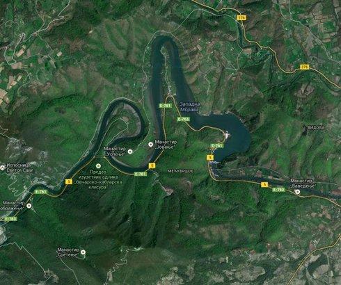 Ovčarsko-kablarsko i jezero Međuvršje na Zapadnoj Moravi