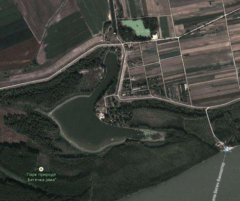 Jezero Begečka Jama na Dunavu