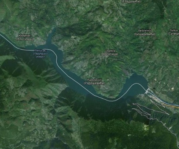 Jezero Perućac na Drini