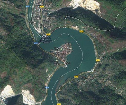 Akumulacija hidroelektrane Zvornik na Drini