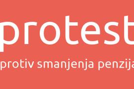 O protestu Udruženja sindikata penzionera Srbije 15. aprila 2015. godine