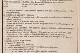 Prava nastavnica po ugovoru o radu iz 1923. godine