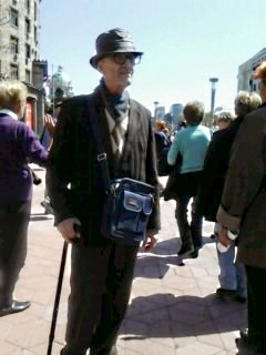 Stariji gospodin, penzioner-protestant