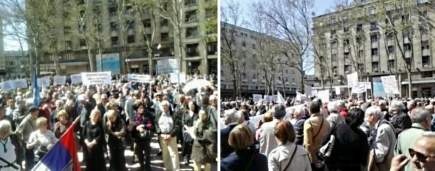 Zoran Ivošević: Govor sa protesta penzionera (april 2015)