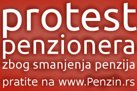 Prvomajski protest – razglednica sa slikom penzionera (Foto galerija)