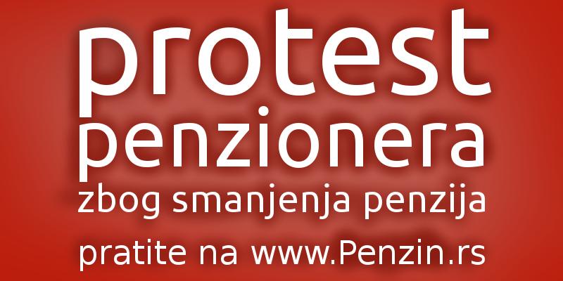 Protest penzionera 1. maja u Beogradu