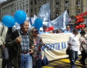 Marija Todorović, potpredsednica USPS-a u protestnoj šetnji