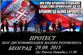 Protest vojnih penzionera u Beogradu: Ministar obećava, mi ne verujemo!