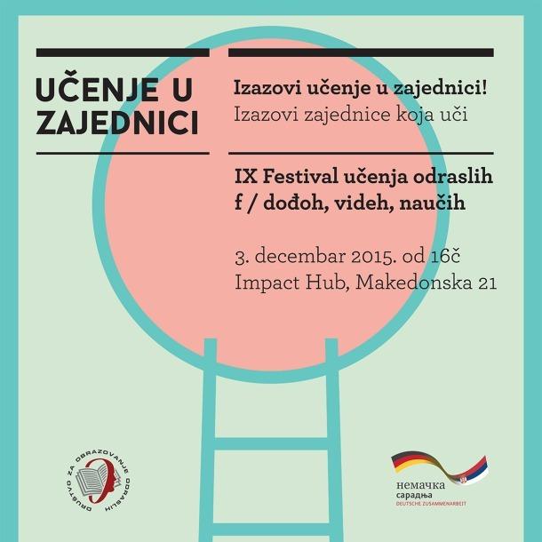 IX festival učenja odraslih – Beograd, 3. decembar 2015. godine (program)