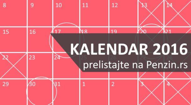 Kalendar 2017 – radni i neradni dani, državni i verski praznici