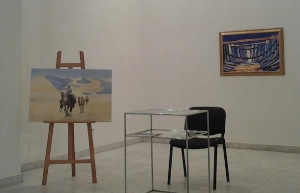 Sa izložbe slika A. Babovića, Galerija ULUS