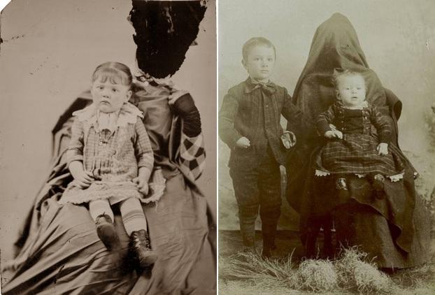 Sakrivena majka fotografija dece XIX vek 3