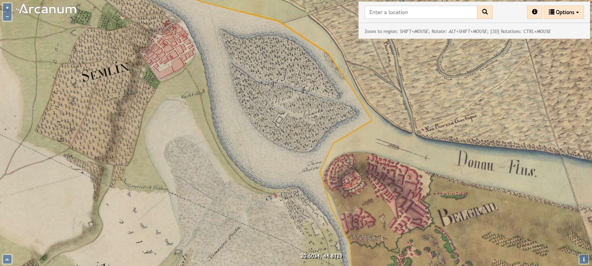 Vojvodina i Beograd pre 250 godina na mapama Habzburga