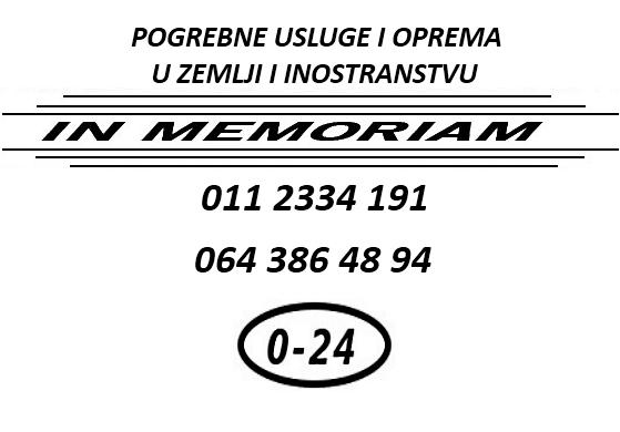 Logotip In Memoriam pogrebne usluge oprema zemlji inostranstvu