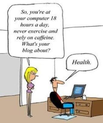 Slika: Ne mrdaš se odatle 18 sati, šta radiš?! Pišem blog o zdravlju :)