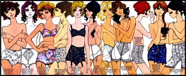 1968 steznici ilustracija Marks & Spencer reklama