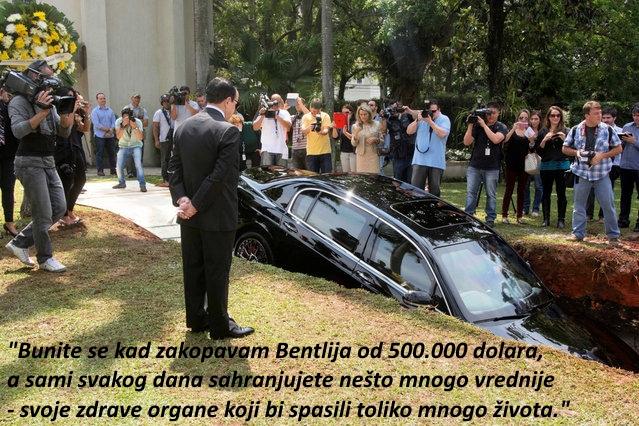 Legendarna sahrana Bentlija od pola miliona dolara