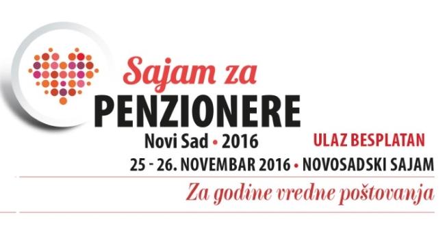 Program Sajma za penzionere, Novi Sad, 25 – 26. novembar 2016. (promo)