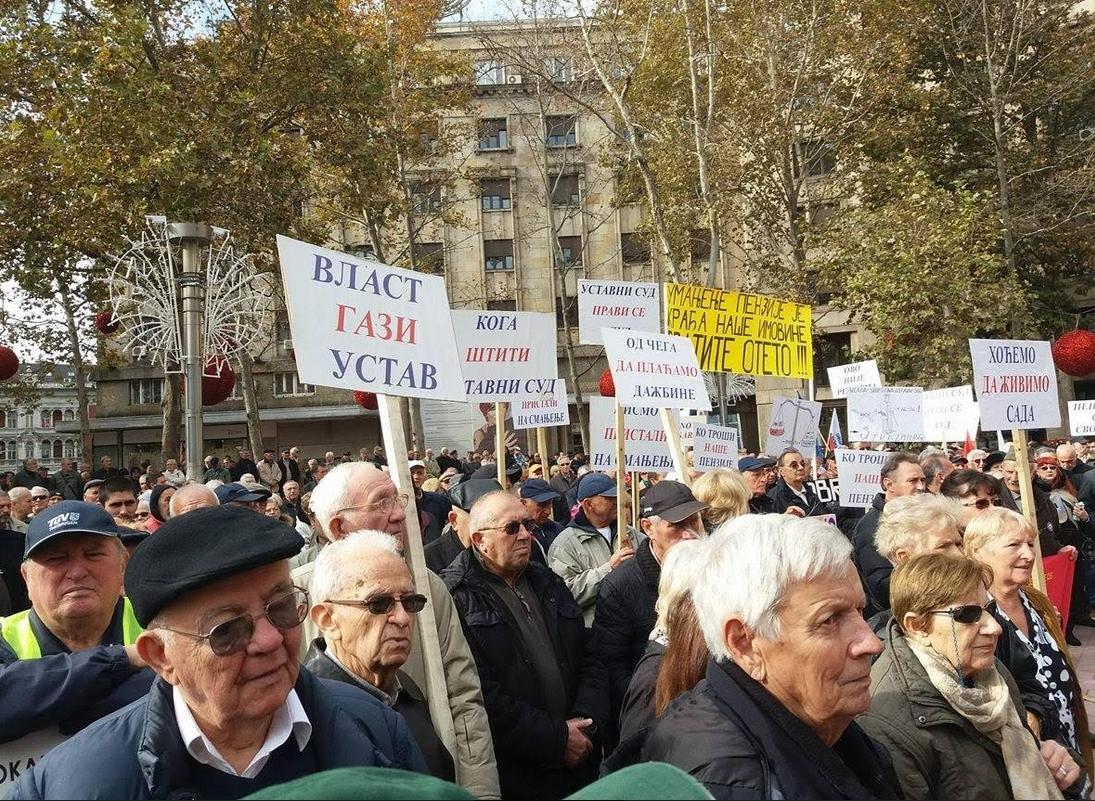 USPS i USPVLS: Na protestu penzionera najmanje 2.000 ljudi
