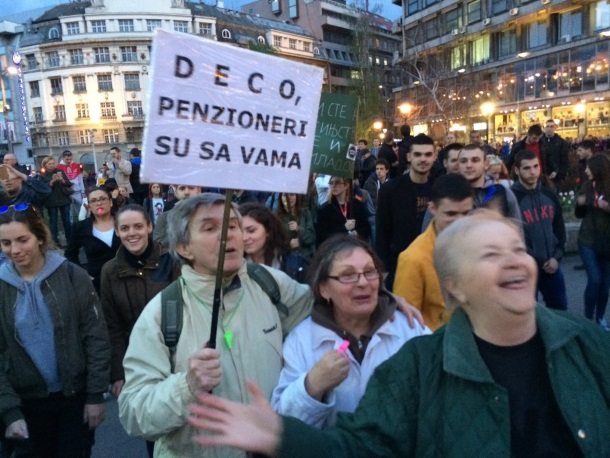 Udruženje sindikata penzionera Srbije podržava zahteve studenata