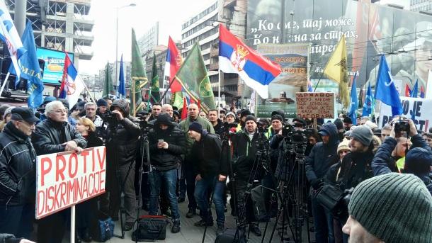USPVLS: Podrška protestu Vojnog i Policijskog sindikata Srbije 8. aprila 2017. godine