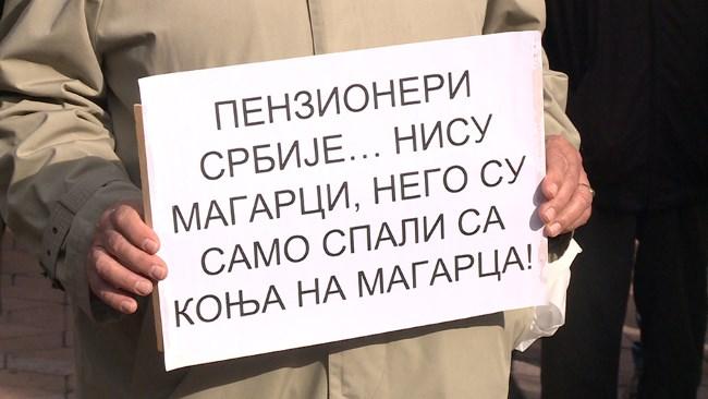 Sa protesta penzionera – Beograd, 26. oktobar 2017. godine