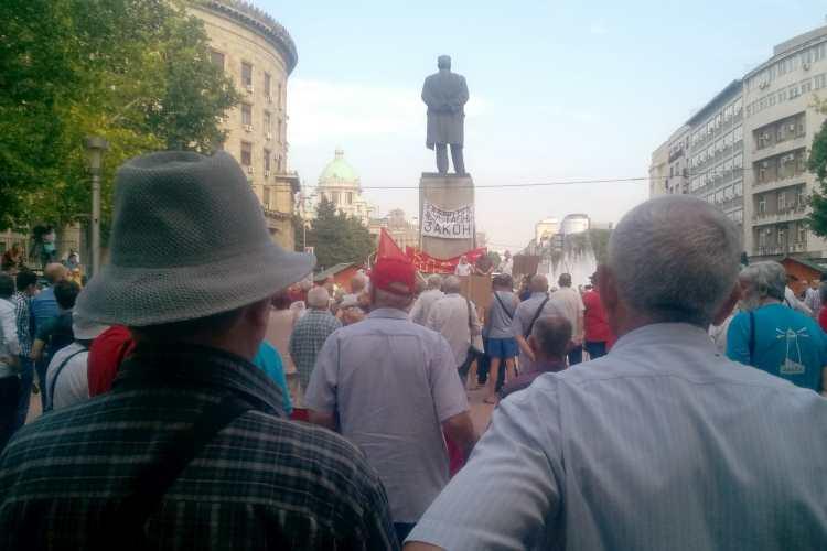 Izveštaj sa protesta penzionera u Beogradu, 12. juna 2018. godine