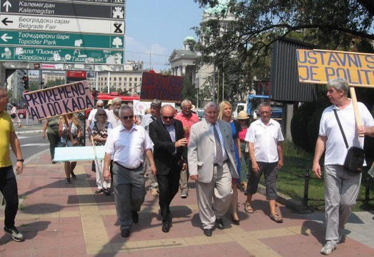 Akcija poslanici i penzioneri pred Ustavnim sudom Srbije – realizovana!