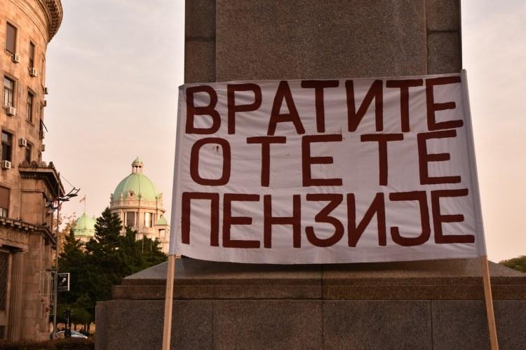 Protest penzionera i zaposlenih 30. oktobra 2018. – Izveštaj iz Beograda