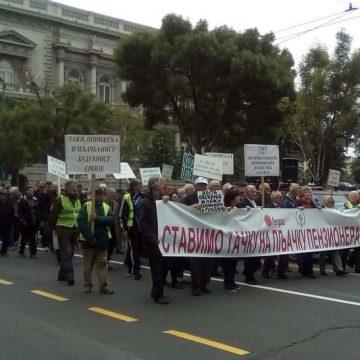 Protest penzionera u Beogradu 17. maja 2019.