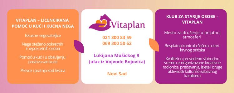 Vitaplan Pomoć u kući gerontonegovatljice dnevni boravak za starije