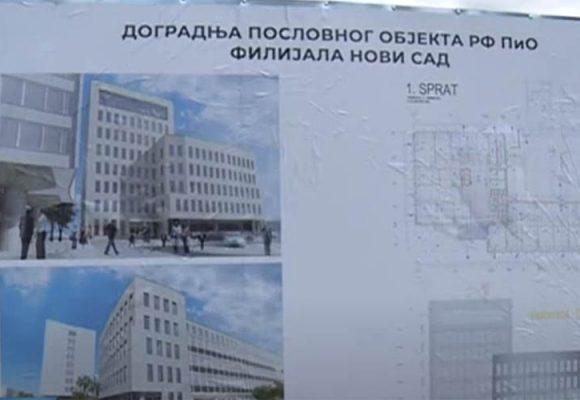Dogradnja objekta Fonda PIO u Novom Sadu