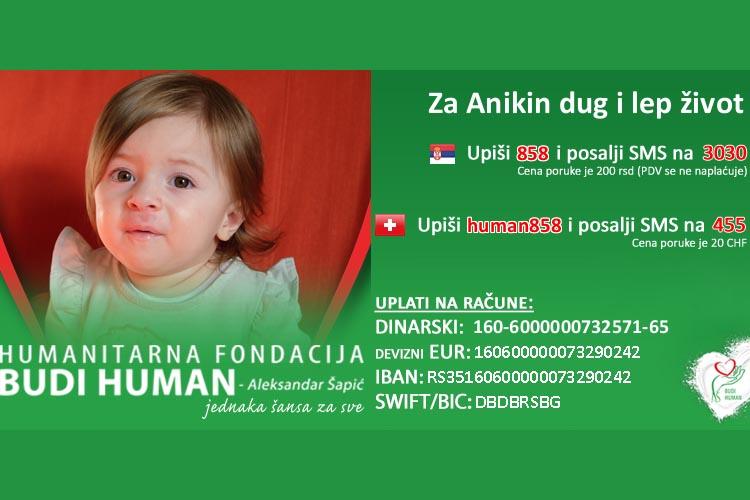 Građani Gornjeg Milanovca traže da Opština izdvoji novac za lečenje Anike Manić